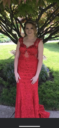 Queenly size 10  Red Straight evening gown/formal dress