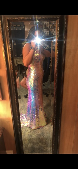 Jovani Multicolor Size 12 Straight Dress on Queenly