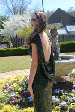 Green Size 0 Train Dress on Queenly