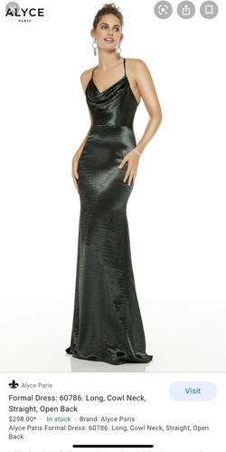 Queenly size 00  Green Cocktail evening gown/formal dress