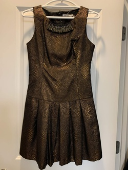 Queenly size 2 Lucy & Co Gold Cocktail evening gown/formal dress