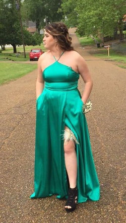 Queenly size 12  Green Straight evening gown/formal dress