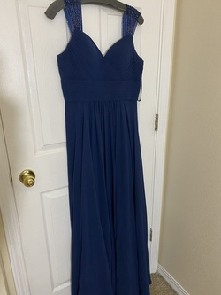 Queenly size 10  Blue A-line evening gown/formal dress