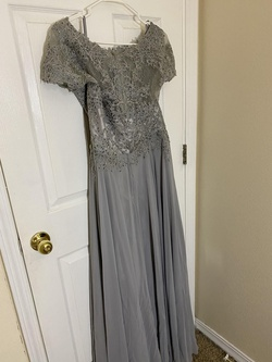 Eureka Silver Size 12 Lace Plus Size A-line Dress on Queenly