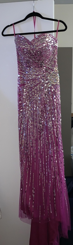 Jovani Pink Size 2 Prom Straight Dress on Queenly