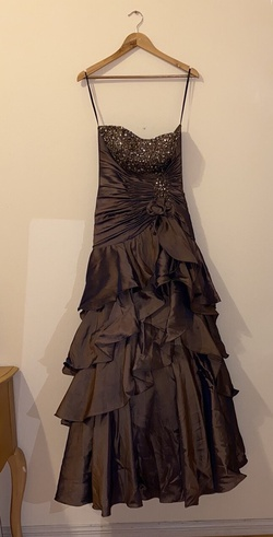 Queenly size 0 Neblon Gold Ball gown evening gown/formal dress