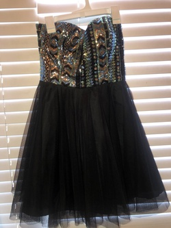 Queenly size 4  Black Cocktail evening gown/formal dress