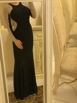 Queenly size 4 Xscape Black Straight evening gown/formal dress