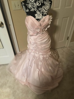 Camille La Vie Pink Size 12 Mini Tall Height Mermaid Dress on Queenly