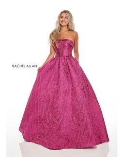 Rachel Allan Blue Size 6 Prom Ball gown on Queenly