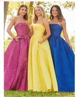 Queenly size 6 Rachel Allan Blue Ball gown evening gown/formal dress