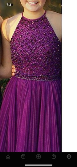 Sherri Hill Purple Size 4 Homecoming Cocktail Dress on Queenly