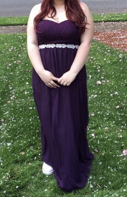 Queenly size 18  Purple Straight evening gown/formal dress