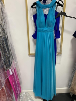 Queenly size 00 Jovani Blue Straight evening gown/formal dress