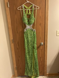 Queenly size 0 Precious formals Green Side slit evening gown/formal dress