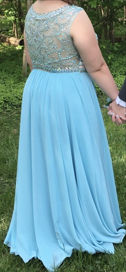Alyce Paris Light Blue Size 16 Prom A-line Dress on Queenly