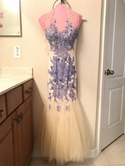 Queenly size 0  Purple Mermaid evening gown/formal dress
