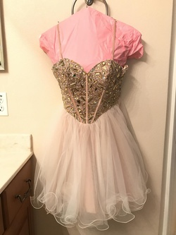Queenly size 0 Dave & Johnny Nude Cocktail evening gown/formal dress