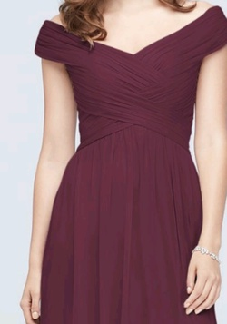 Davids Bridal Red Size 2 Tall Height Side slit Dress on Queenly