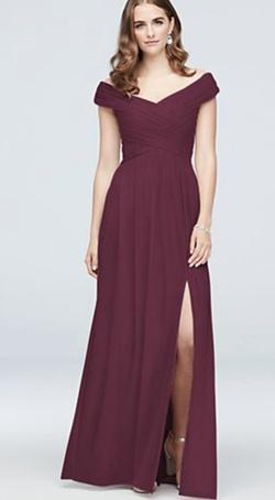 Queenly size 2 Davids Bridal Red Side slit evening gown/formal dress