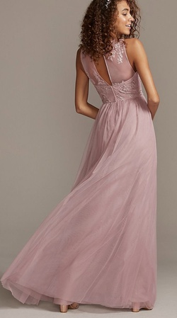Davids Bridal Pink Size 2 Tall Height Straight Dress on Queenly