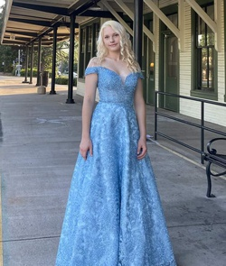 Queenly size 2 Camille La Vie Blue Ball gown evening gown/formal dress