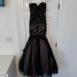 Alyce Paris Black Size 00 Nude Sweetheart Mermaid Dress on Queenly