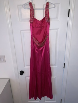 Jovani Hot Pink Size 4 Straight Dress on Queenly
