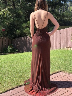 Mac Duggal Red Size 4 Green Custom Side slit Dress on Queenly