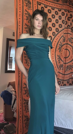 christina wu Green Size 0 Straight Dress on Queenly