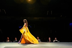 Fernando Wong Yellow Size 2 Tall Height Custom Side slit Dress on Queenly