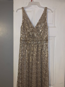 Gold Size 6 Straight Dress on Queenly