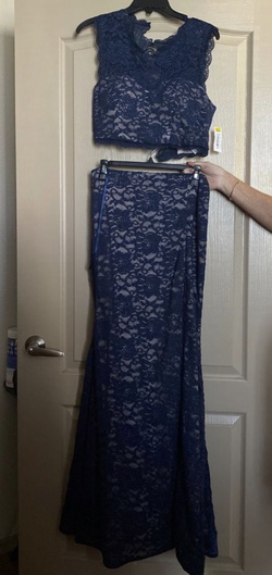 Queenly size 12  Blue Mermaid evening gown/formal dress