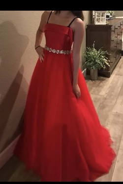 Queenly size 2 Jovani Red Ball gown evening gown/formal dress