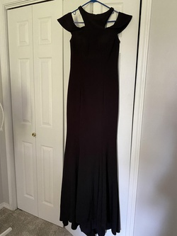 Queenly size 6 Xscape Black Straight evening gown/formal dress