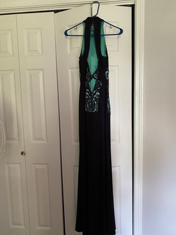 Xscape Blue Size 2 Straight Dress on Queenly