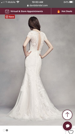 White Size 10 Straight Dress on Queenly