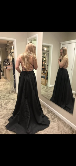 Sherri Hill Black Size 8 Tall Height Side slit Dress on Queenly