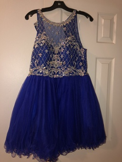 Camille La Vie Blue Size 10 Flare Cocktail Dress on Queenly