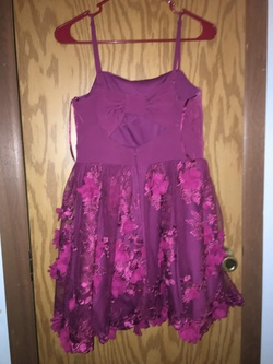 Trixxi Purple Size 6 Homecoming Floral Sequin Ball gown on Queenly