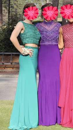 Sherri Hill Green Size 2 Cap Sleeve Prom Two Piece Straight Dress on Queenly