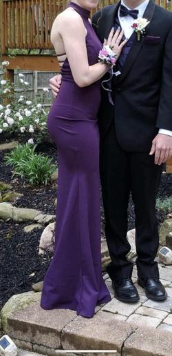 Purple Size 4 Mermaid Dress on Queenly