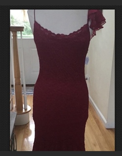 Queenly size 6 Betsey Johnson Red Mermaid evening gown/formal dress