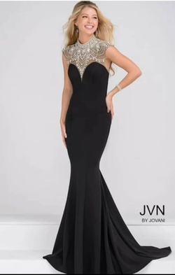 Jovani Black Size 4 Pageant Mermaid Dress on Queenly