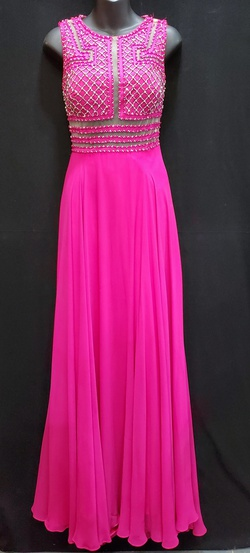 Queenly size 2 Mac Duggal Pink A-line evening gown/formal dress