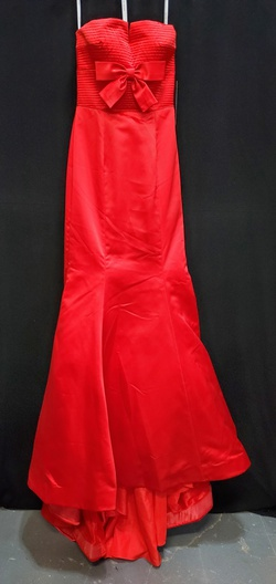 Sherri HIll Red Size 2 Train Dress on Queenly