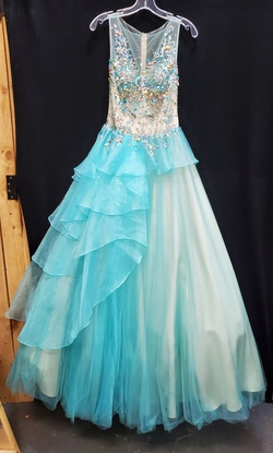 Queenly size 2 Party Time Formals Blue Ball gown evening gown/formal dress