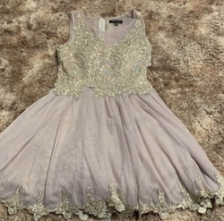 Queenly size 0  Gold Ball gown evening gown/formal dress