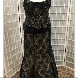 Queenly size 22 Camille La Vie Black Mermaid evening gown/formal dress