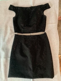 Queenly size 4 Sherri Hill Black Straight evening gown/formal dress